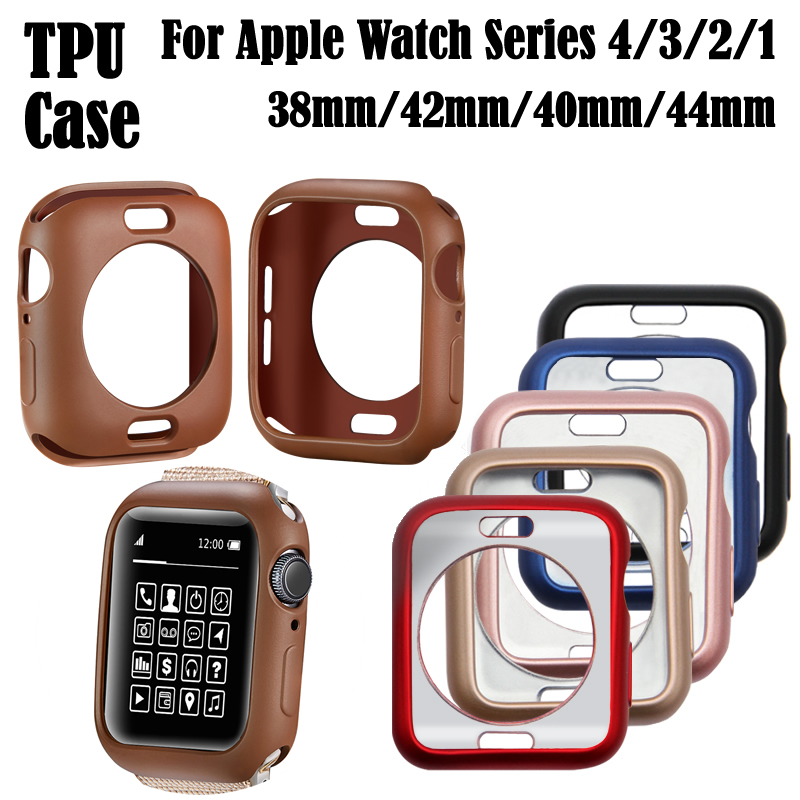Watch Case TPU Cover for IWatch Series 1 2 3 4  for Apple 38/42/40/44mm Watch Case Protector Case Bumper Watch Accessories