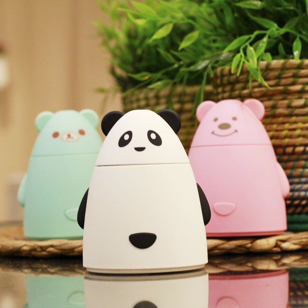 80ML Cute bear Ultrasonic Air Aroma mini usb Humidifier Electric Aromatherapy Essential Oil Aroma Diffuser Urpower цена