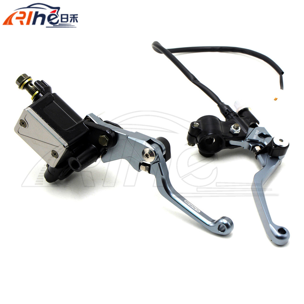 Hydraulic Brake Cable Clutch 7/8 Dirt Bike Brake Master Cylinder Reservoir Levers For Yamaha  YZ125/250 01 02 03 2004 2005 2006