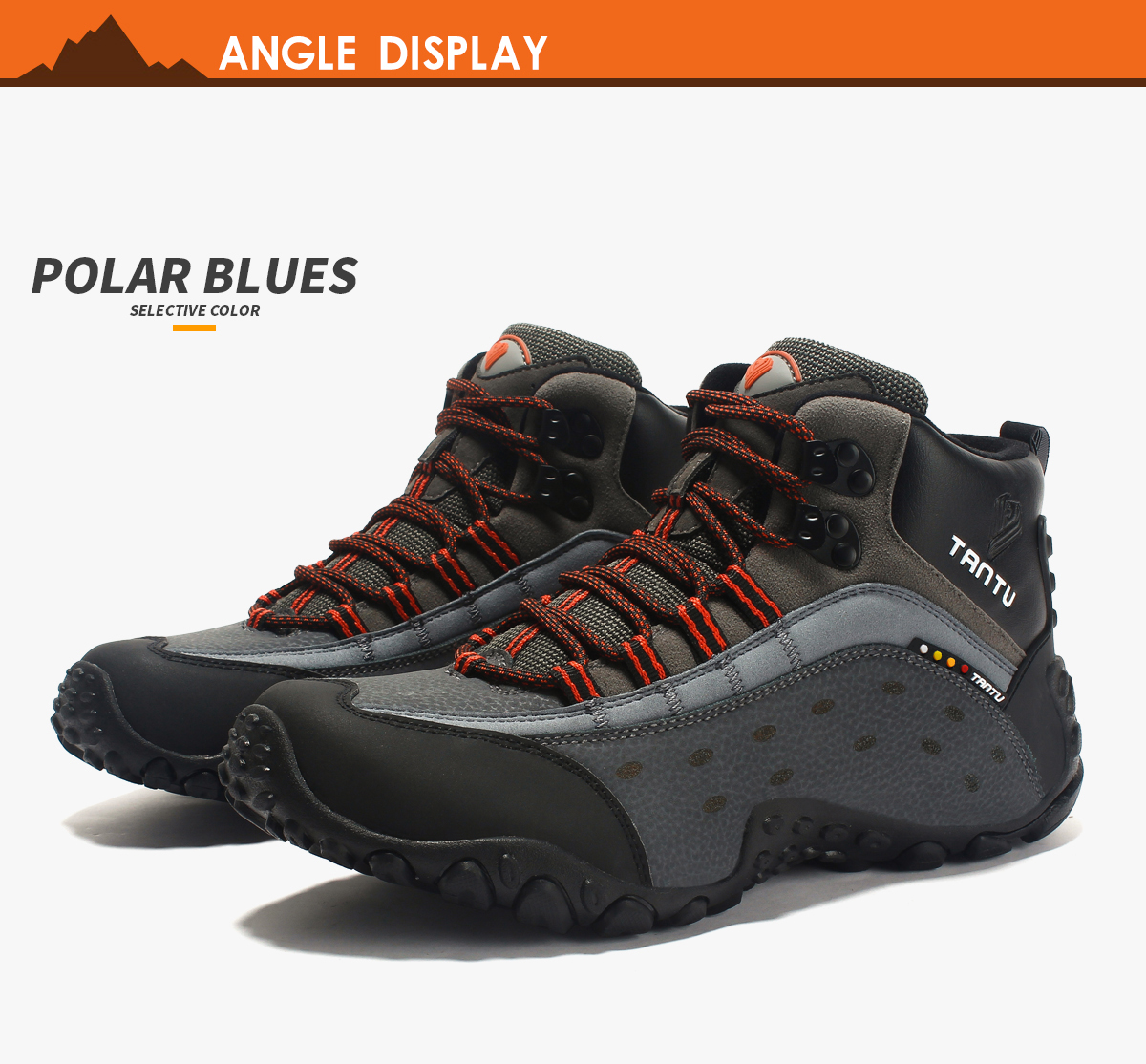 5aa13f90d1a5e LeFoche 2018 Men's Mid Venture Waterproof Lightweight Hiking Boots Running  Shoes Outdoor Hiking Athletic Sneakers