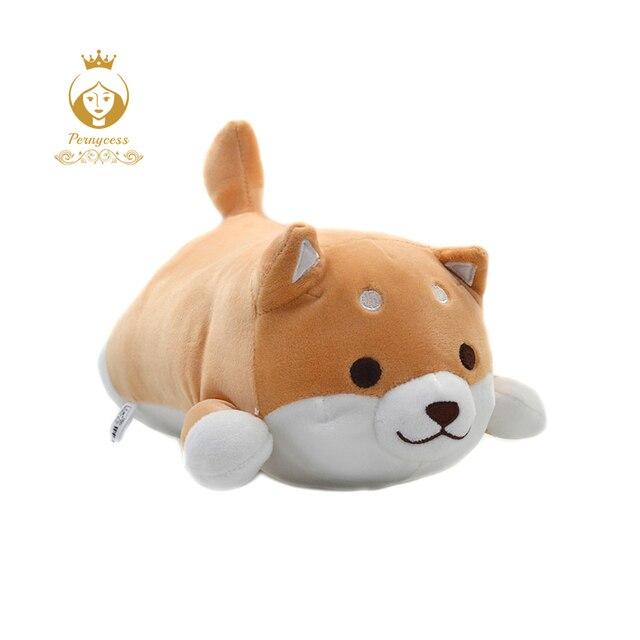 1 PCS Bonito cachorro de Pelúcia Brinquedos de Pelúcia Macia Super macios Chai Cachorro de pelúcia Travesseiro Cão Travesseiro de Bunda Squeeze toy Crianças brinquedos Presentes de Natal
