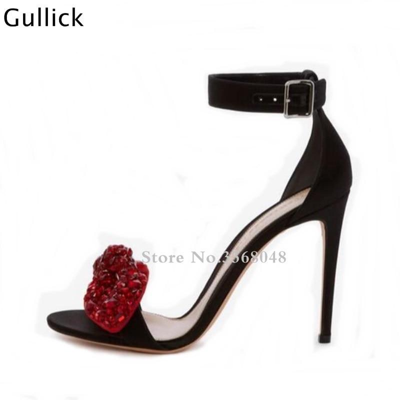 7 Rouge Haute Talons Cm Date 9 Grand 9 Parti 7 Cm Ou Papillon Cristal Cm Femme Toe Décor Chaussures Sandales Slik Noeud Boucle Peep Blanc v6q64p