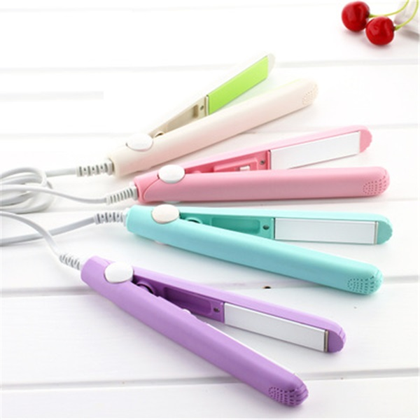 Professional Electric Hair Straightener Fast Ceramic Portable Mini Straight Hair Clip Iron Dry Wet Hair Straightener kemei 2205 original professional hair straightener design for female styling tool for dry wet hair plat iron ceramic coating lcd