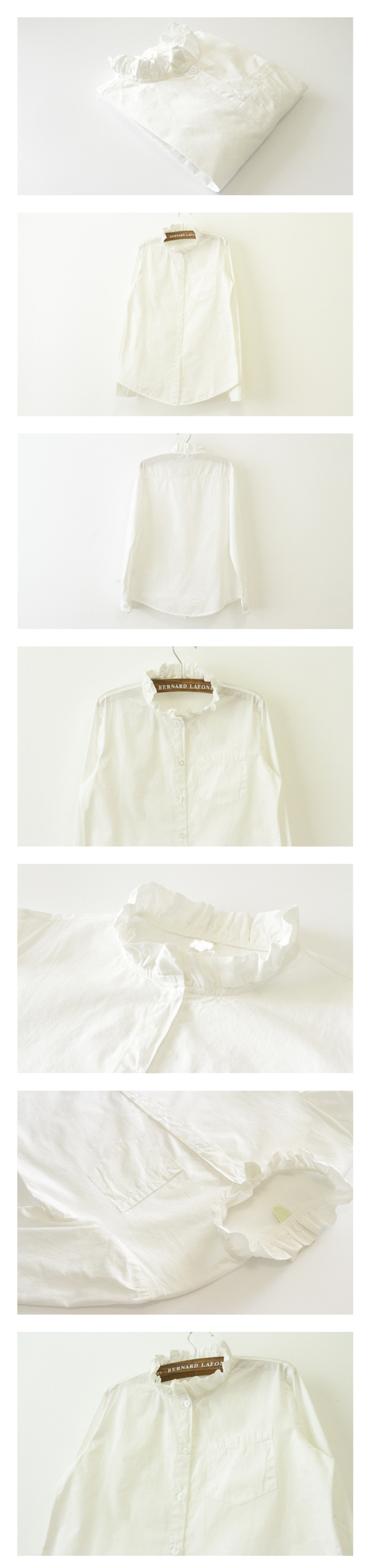 a5fa897652d ... Ruffled Collar Plus Size Women Work Blouse Lady Clothing Fashion Casual  Tops. material   100% cotton. color   white. size   S-M-L-XL. 637