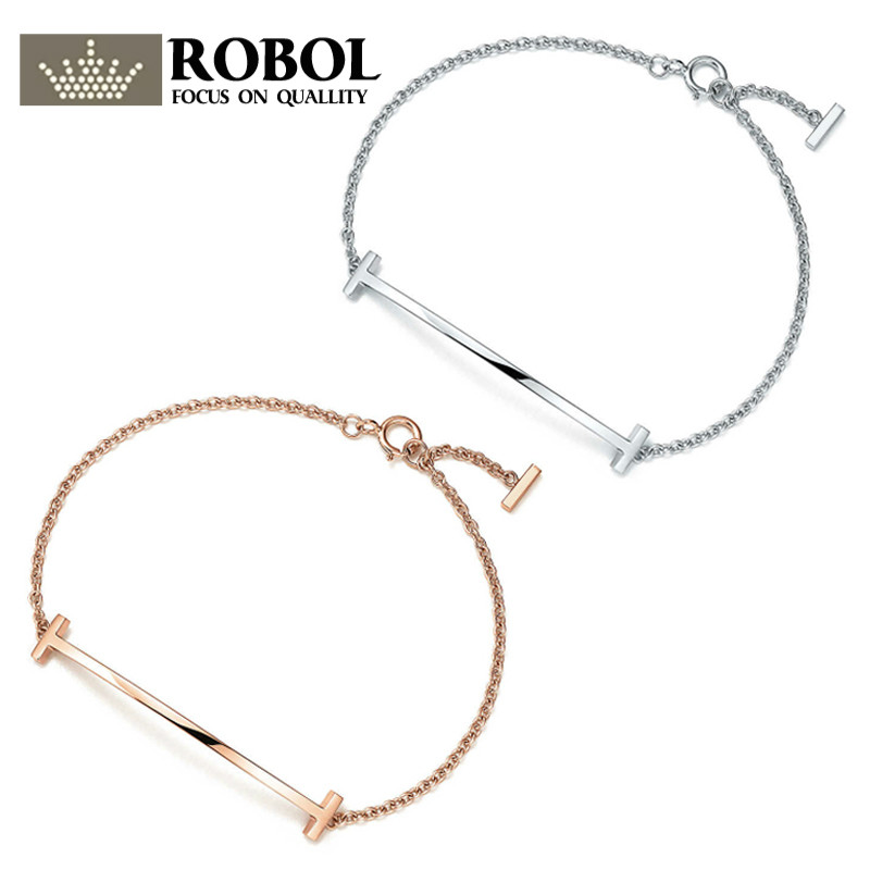 ROBOL TIFF Genuine 100% 925 Sterling Silver Color & Rose Golden Adjustable Size Bracelet DIY Bangle Jewelry Gifts Free ShippingROBOL TIFF Genuine 100% 925 Sterling Silver Color & Rose Golden Adjustable Size Bracelet DIY Bangle Jewelry Gifts Free Shipping