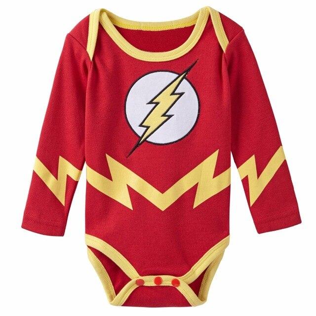Baby Boy The Flash Costume Bodysuit Infant Party Newborn Cotton