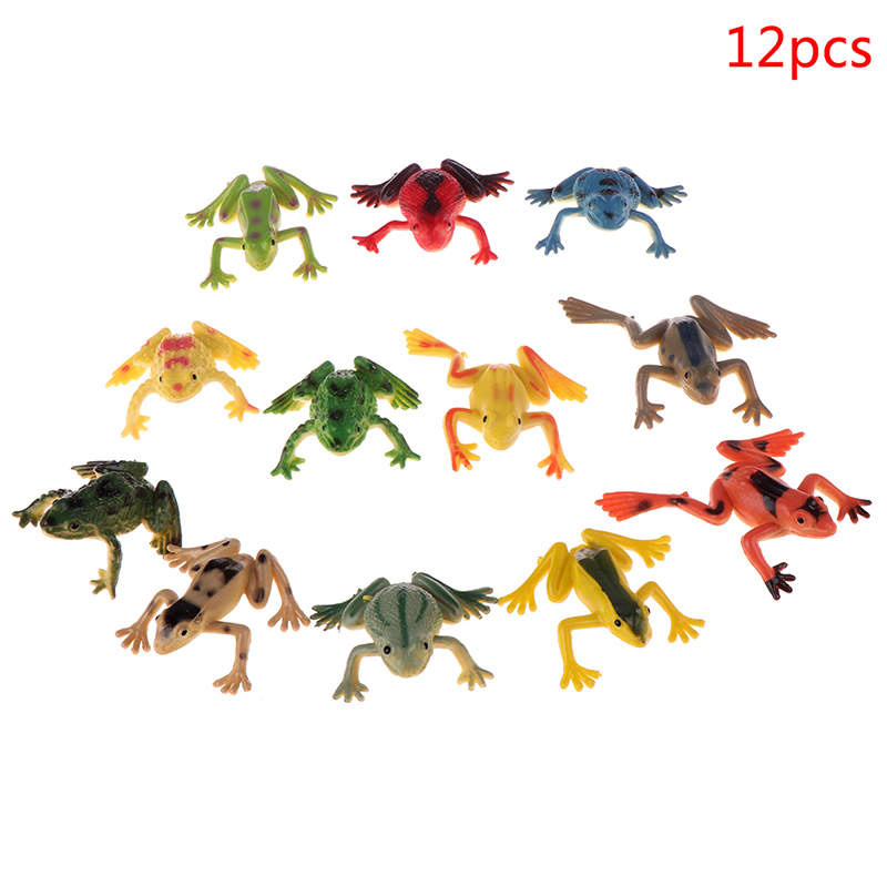 12 Pieces Frogs Model Action & Toy Figures Learning Education Toys for Children
