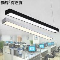 Светодиодный полосы света люстра лампа современный офис освещения длинная полоса алюминиевые подвесные лампы BG8