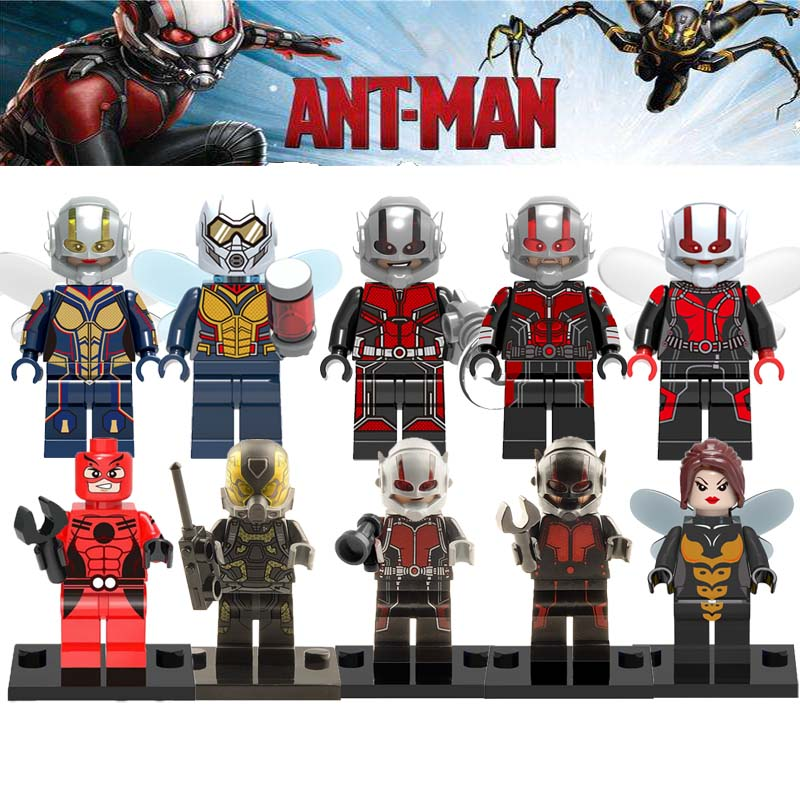 Single Sale Legoingly Ant-Man Marvel Super Hero Ant Man The Wasp Brick Wasp Yellow Jacket Building Block Bricks Toys For Kid ant man ant man yellow jacket 6 5cm mini figure with acrylic base action figure toys
