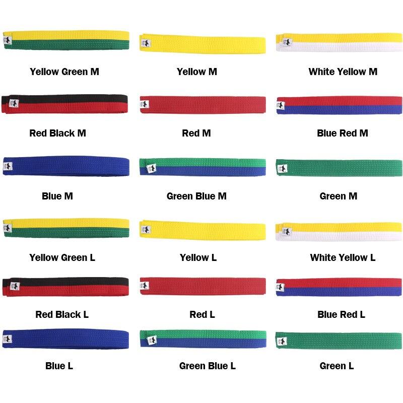 Text - gordel in verschillende kleuren
