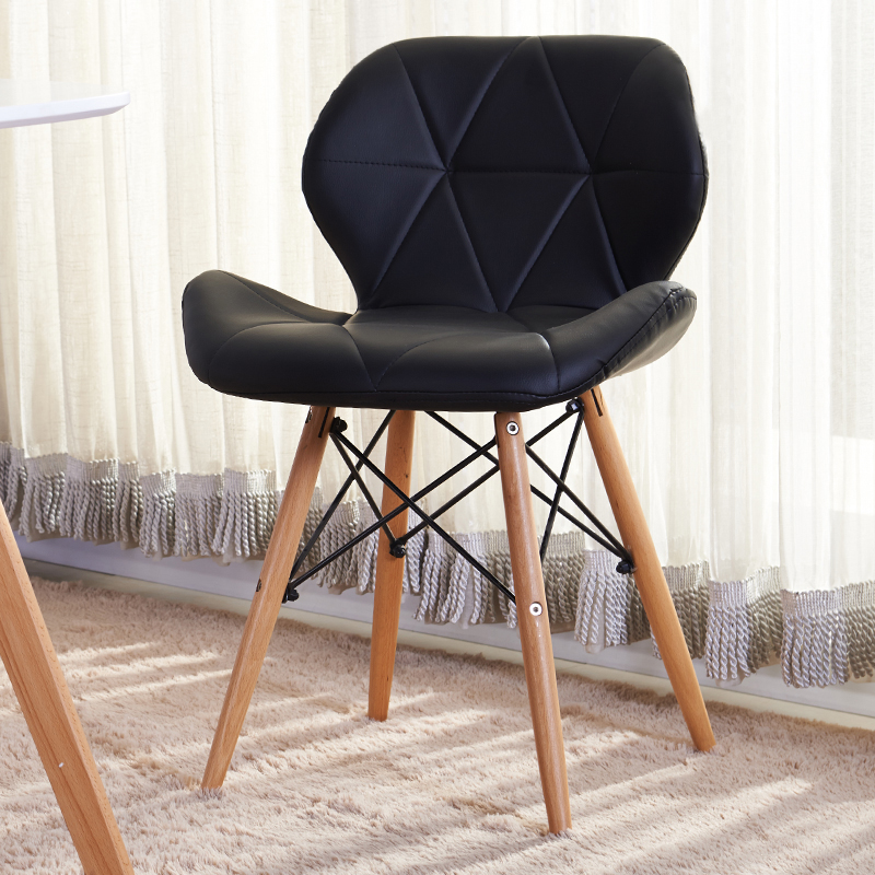 Furniture fashion modern leisure contracted leather chair high end dining chair in dining chairs - Fashionable recliners ...