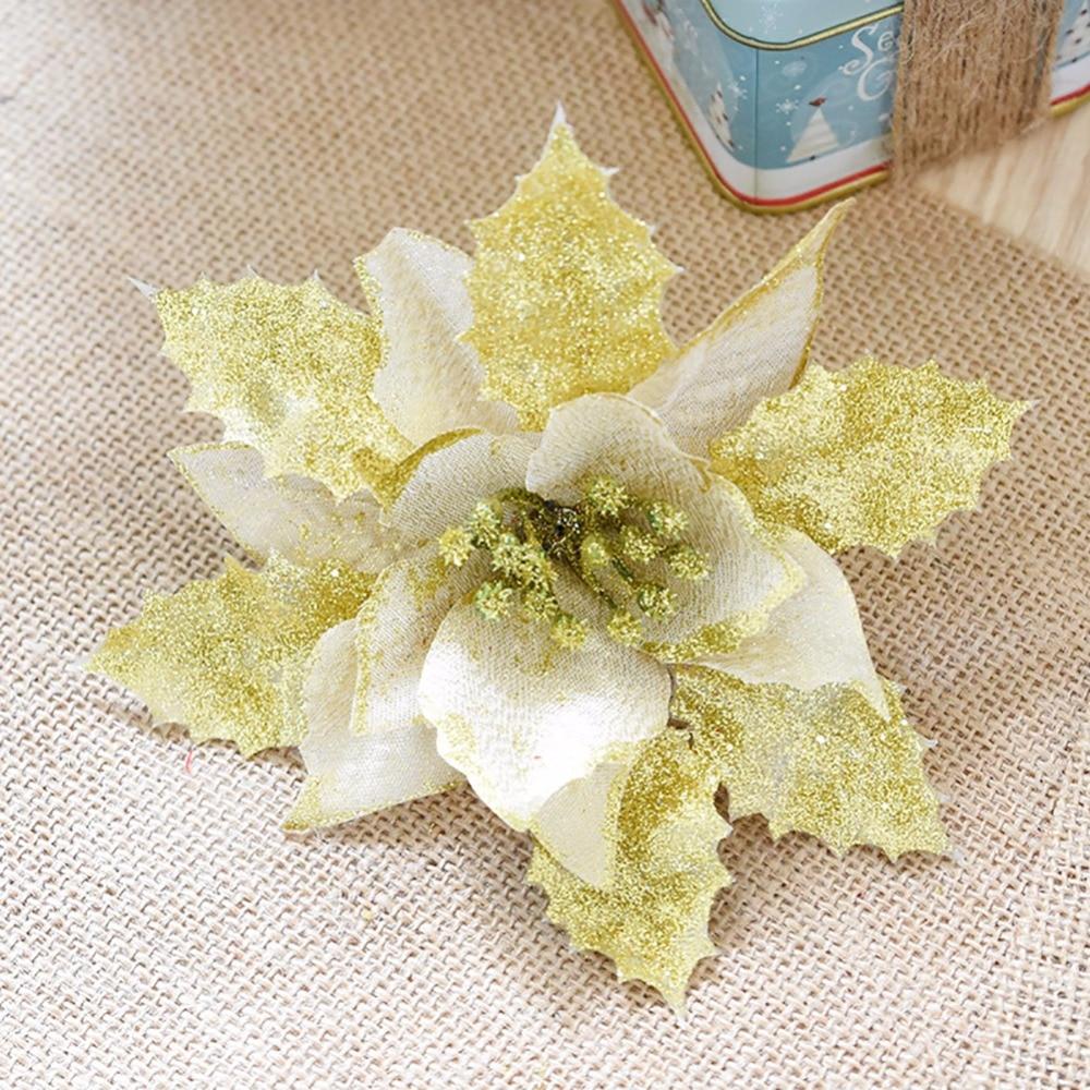 10 Unids / lote 17 cm Rojo / Dorado / Plata Exquisito Flores - Para fiestas y celebraciones - foto 2