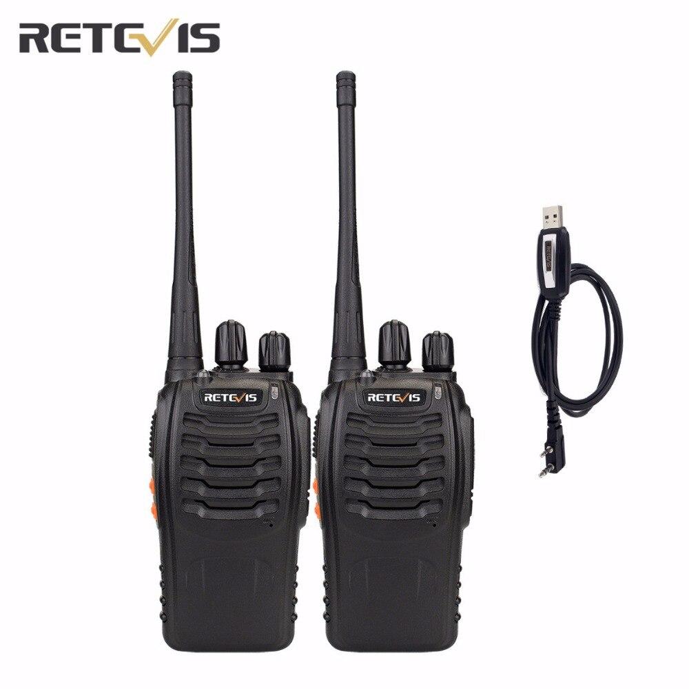 bilder für 2X Retevis H777 Walkie Talkie + Eine Programmierkabel UHF400-470MHz Tragbare Zweiwegradio CTCSS/DCS Hf Transceiver Team Comunicator
