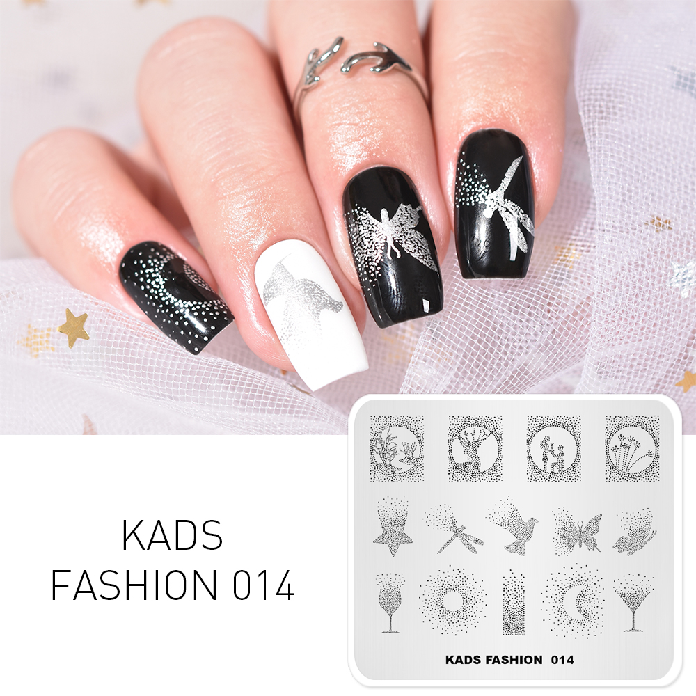 Image 4 - KADS Nail Stamping Plates 38 Design Various Series More Choices Manicure Stamping Template Image Plates For DIY Nail Decoration-in Nail Art Templates from Beauty & Health