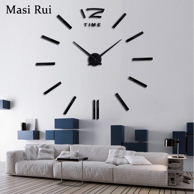 2018 Neue Wohnkultur Große Wanduhr Modernes Design Wohnzimmer Metall  Dekorative Designer Wanduhren Uhr Freies Verschiffen