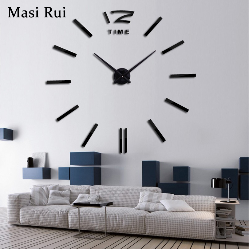 2019 new home decor big wall clock modern design living room quartz Metal  decorative designer clocks wall watch free shipping