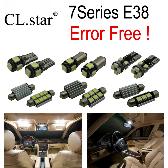 20pc XCanbus LED Bulb Interior font b Light b font Kit for bmw E38 740i 740iL
