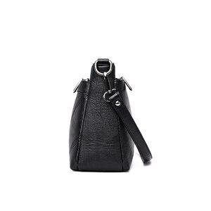 Image 2 - Moda kadın omuzdan askili çanta tasarımcısı PU deri kadın postacı çantası marka Tote Flap kadın çanta kadınlar için Crossbody çanta Sac
