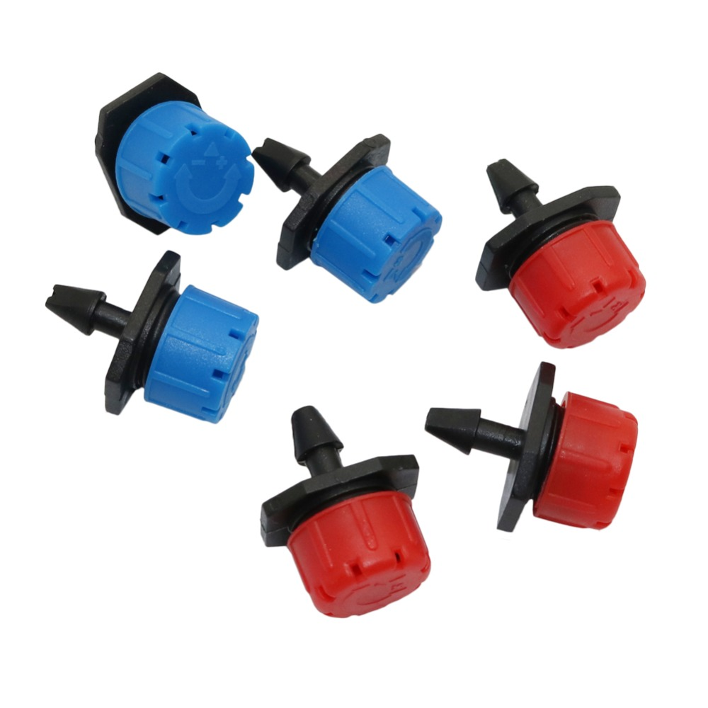 25 Pcs 8 Hole Garden Irrigation Misting Micro Flow Dripper Drip Head 1/4'' Hose Drip Irrigation System Watering