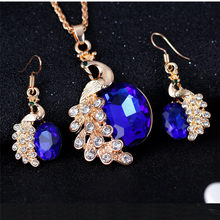 Metal Jewelry New Women Necklace Earring Set luxury style Bib Pendant Chain Necklace Set #30(China)