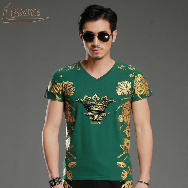 Men T Shirt 2019 summer Men's Famous Brand T-Shirt Fashion Slim Dragon Print Funny T Shirt short-Sleeved T Shirt Men