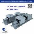 Бесплатная доставка 2 шт. SBR20 1400 мм линейные рельсы 4 шт. SBR20UU линейных направляющих блоков ( можно вырезать любой длины )