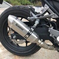 Мм 35-51 мм Универсальный мото rcycle модифицированный Akrapovic выхлоп moto Escape Муфельная труба Универсальный подходит для moto rcycle ATV Скутер