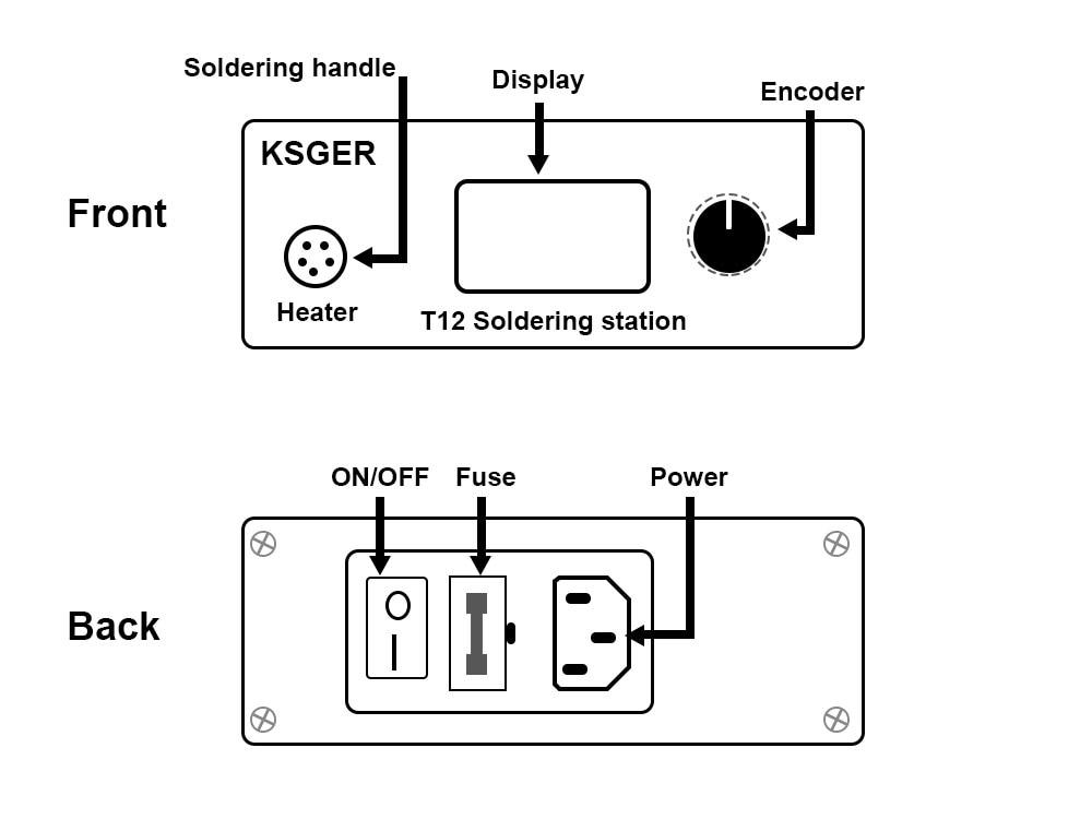 KSGER Mini T12 Soldering Station DIY STM32 OLED V2.01