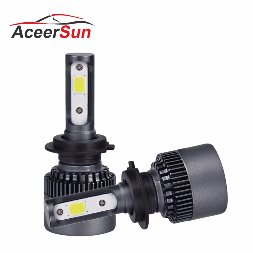 Aceersun H7 Super bright LED H7 H4 H11/H8/H9 Car Bulb mini 9005/HB3 9006 ZES Chip 12V 10000lm 6500K 24V Auto Headlights LED Lamp 1pair 2 pcs 24w bulb 3000lm auto cree led h11 9005 h8 9006 car headlights lamp 6000 6500k lamp waterproof dc12 24v