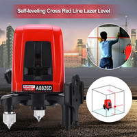 A8826D Laser Level 2 Line 1 Dots 1V1H Mini Portable 360 Self leveling Cross Red Line Laser Level Construction Tool With Soft Bag