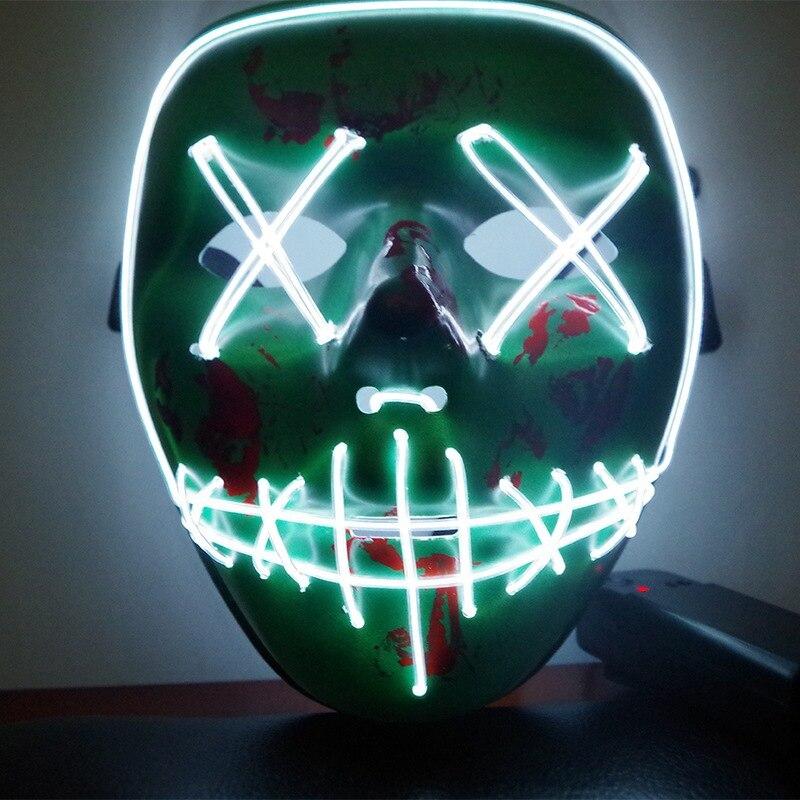 Halloween Party Masken Scary Maske LED Licht Up Lustige Masken Die Purge Wahl Jahr Große Festival Cosplay Liefert