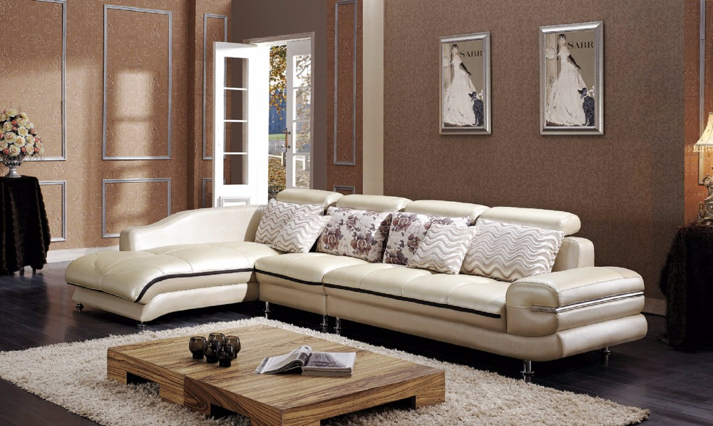 Online buy wholesale leather corner sofa from china for Whole living room furniture sets