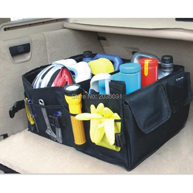 Car trunk storage bag folding truck storage box FOR avensis peugeot 5008 renault clio 4 vw golf 7 mini cooper r56 golf mk7 kia