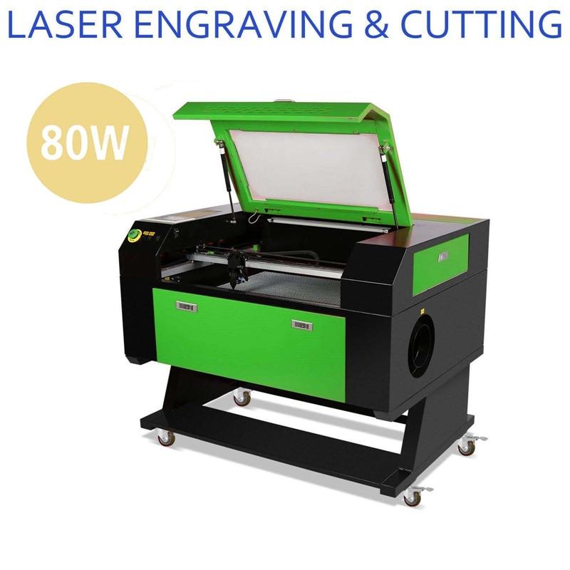 MG-ROCKY tout nouveau 80 W CO2 LASER graveur MACHINE de gravure 70X50 cm artisanat imprimante CUTTER