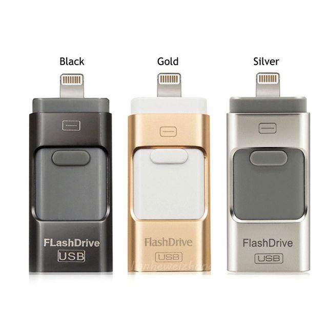 3IN1 USB i-flash Drive Memory Stick U Disco para IOS/Android TELÉFONO Móvil de Doble Propósito Otg Micro 32 GB 64 GB Pendrive