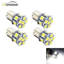 4x 6V 12V 24V BA15D 5050SMD White Red Amber LED Car Bulb Lamp Auto 1142 led car bulbs turn signal brake Lights Car Light Source 2x 1157 ba15d bulb 33 smd 5630 led brake turn signal light lamp white auto car led parking lights 6000k white auto lamp led lamp