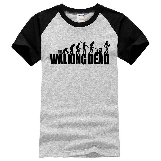 2019 new the walking dead Printed T-shirt 100% Cotton Men t shirt Casual Fitness brand Clothing Tops Tees male Mens New Summer