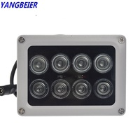 Ybr 8pcs Infrared Ir Led 850nm Lamp Illuminator Cctv Fill Light Waterproof Outdoor Sensor 12V Fill