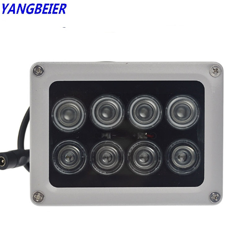 Ybr 8pcs Infrared Ir Led 850nm Lamp Illuminator Cctv Fill Light Waterproof Outdoor Sensor 12V Fill Light For Security Camera цена