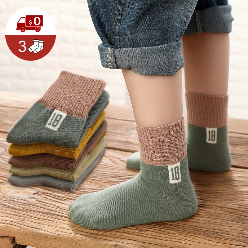 1Pairs New Kids Socks Boys Spring Summer Warm Comfortable Socks Girls Fashion Cotton Children Socks For 1-12Y