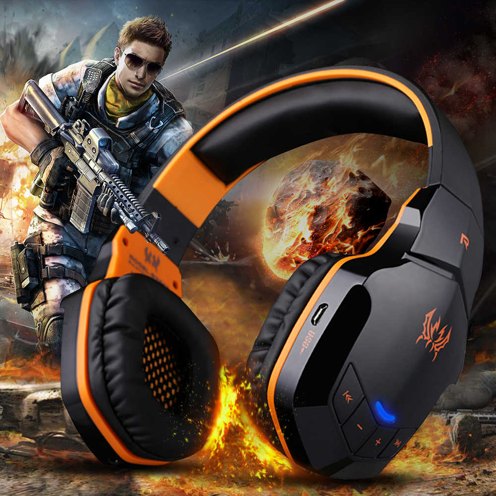 B3505 Nirkabel Bluetooth Gaming Headphone dengan Mikrofon Earphone Tombol Kontrol 3.5 Mm Audio Helm Gaming Headset Gamer