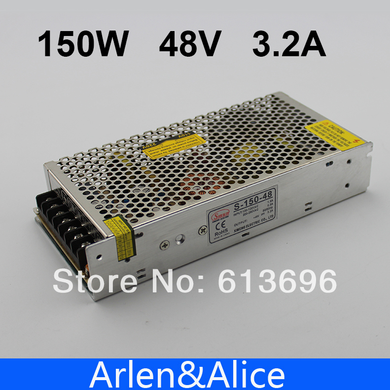 150W 48V 3.2A Single Output Switching power supply for LED Strip light AC to DC best quality 12v 15a 180w switching power supply driver for led strip ac 100 240v input to dc 12v