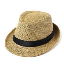 2018 Fashion Hot Unisex Trilby Gangster Cap Beach Sun Straw Hat Band hat summer Gentleman Hats