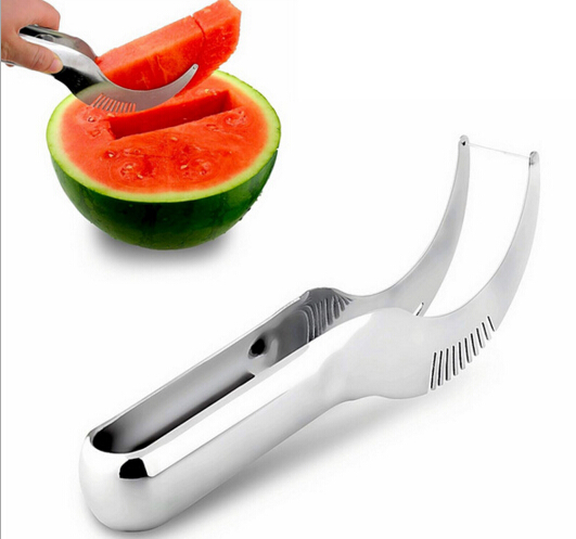 New Stainless Steel Fruit Faster Melon Cutter Server Watermelon Corer Cantaloupe Cutting Seeder Slicer Scoop For Fruit Tools