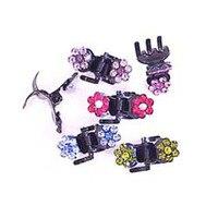 Fashion NEW haustiere oder mädchen mini haar klaue clip mode kopfbedeckungen ornament schmuck zubehör 12 stücke los zufällig gemischte stein farbe