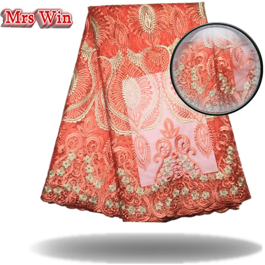 2018 Hot Sales High Quality African Lace Fabric Colorful Nigerian Guipure Wedding African Lace Fabrics for bridal dress