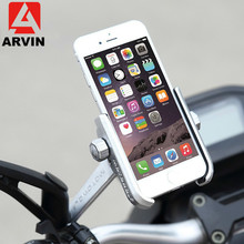 Aluminum Cycling Bike Mountain Bicycle Handlebar Phone Holder Adjustable Universal Motorcycle Rearview Mirror Cellphone Mount