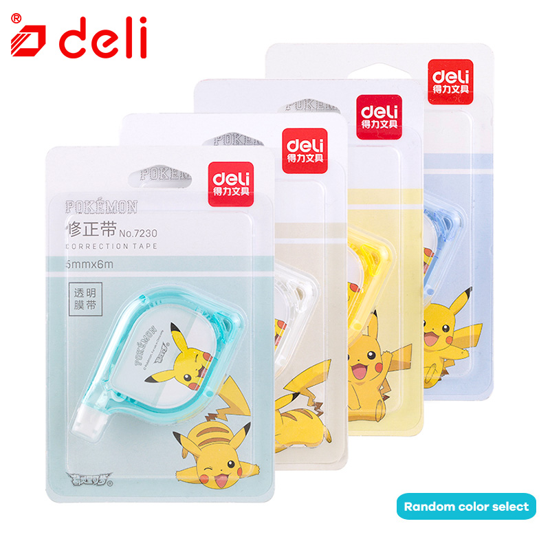 Deli 1PC Correction Tape Cute Kawaii Creative Correction Roller Student Stationery 12M Length Correction Rollers School Supplies