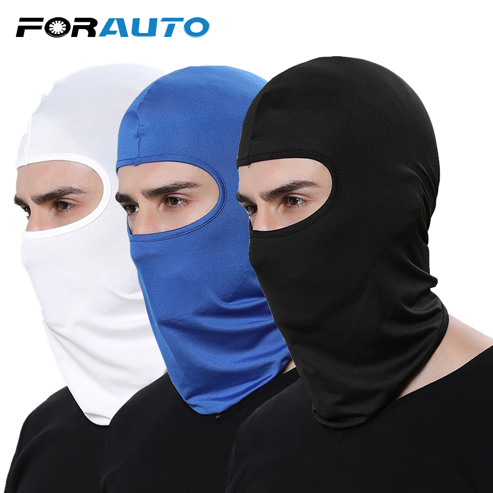 FORAUTO Protective Motorcycle Helmet Full Face Mask Mouth Cover Breathable Outdoor Biking Ski Dust-proof Windproof Headgear riding headgear mask warm hat motorcycle ski protective fa