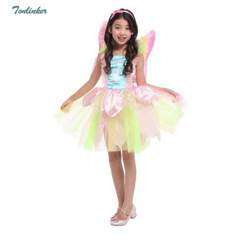 Kids Girls Princess Costume Cartoon Character Fancy Dress Cosplay Party Clothes